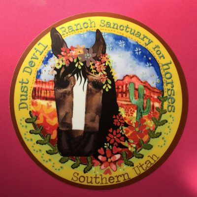 "4"" Horse Sticker - Dust Devil Ranch Sanctuary for Horses"